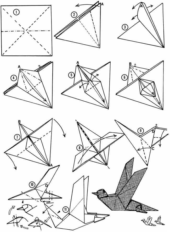 Origami Flying Bird Instructions